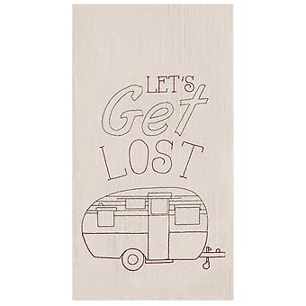 Lets Get Lost Camper Flour Sack Kitchen Towel Cotton 27 Inch