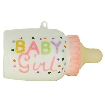 Jente Baby rosa flaske Christmas ferie Glass pryde