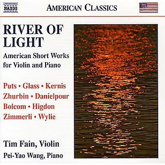 Puts/Glass/Kernis/Zhurbin/Danielpour/Bolcom/Jigdon - River of Light: American Short Works for Violin & Piano [CD] USA import