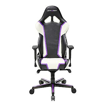 DX Racer DXRacer OH/RH110/NWV High-Back Racing Style Office Chair PU(Black/White/Violet)