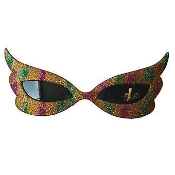 Óculos de sol o óculos de óculos piada Glitterbrille borboleta glitter