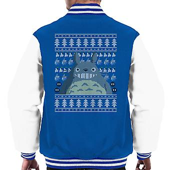 Christmas Totoro Studio Ghibli Knit Men's Varsity Jacket