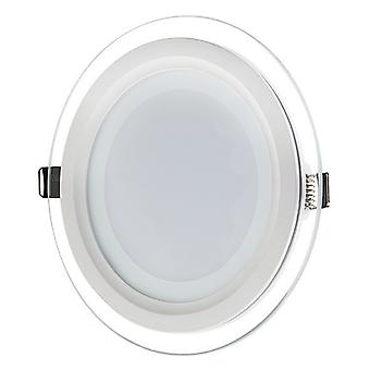 I LumoS LED 6 Watt Round Recessed Glass Lighting Panel Slim Ceiling Light