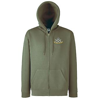 The South Staffordshire Regiment Embroidered Logo - Official - Zipped Hoodie Jacket
