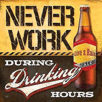 Drinking Hours Poster Print by Mollie B (12 x 12)