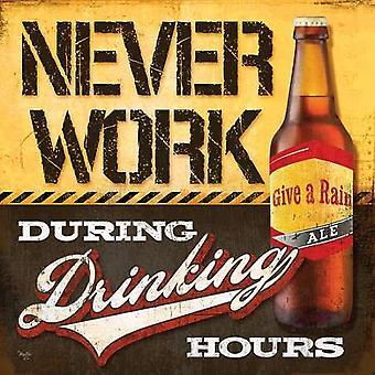 Beber horas Poster Print por Mollie B (12 x 12)