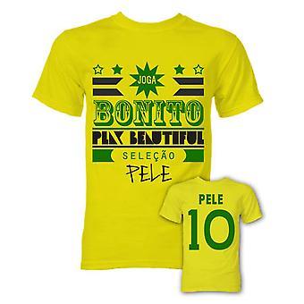 T-Shirt Pele Joga Bonito (Jaune)