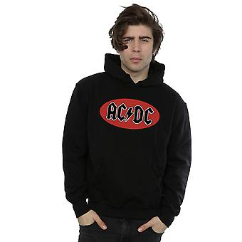 AC / DC الرجال & apos;ق الأحمر دائرة شعار هودي
