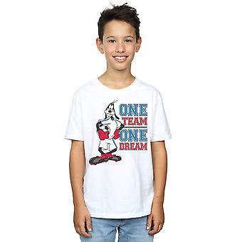 Disney Boys Goofy One Team One Dream T-Shirt