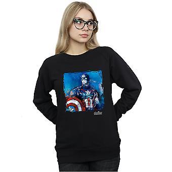 Marvel Women's Captain America Art Sweatshirt