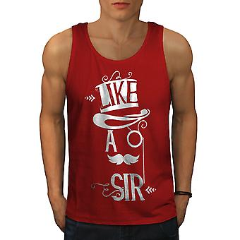 Sir Gentleman Joke Funny Men RedTank Top | Wellcoda