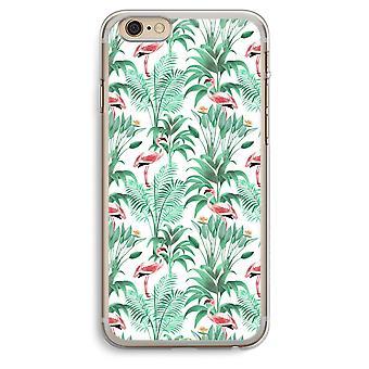 iPhone 6 Plus / 6S Plus transparant Case (Soft) - Flamingo verlaat