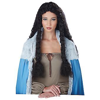 Βίκινγκ πριγκίπισσα μεσαιωνικός Βάρβαρος πολεμιστής παιχνίδι των θρόνων γυναίκες φορεσιά περούκα