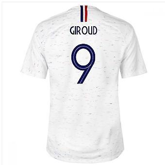 2018-2019 Ranska päässä Nike jalkapallopaita (Giroud 9) - lapset