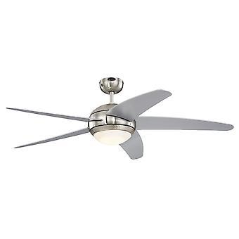 Westinghouse plafon fan Bendan LED argintiu cu telecomanda