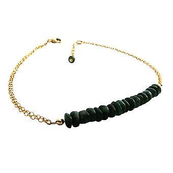 Emerald armbånd grønn smaragd gemstone armbånd gullet tallerken