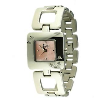 Saphir Ladies Square Pink Dial Silver Mini Petite Watch Triangle Shapes UK SALE