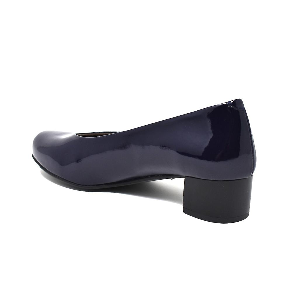 Chaussures Liberitae Salon Salon rondes toe brevets bleu marine 21603452-33