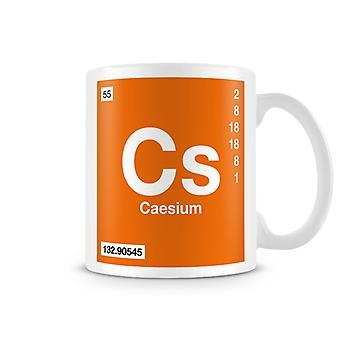 Scientific Printed Mug Featuring Element Symbol 055 Cs - Caesium