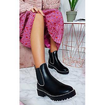 أحذية كعب مكتنزة جلدية فو المرأة تارا إيكروش