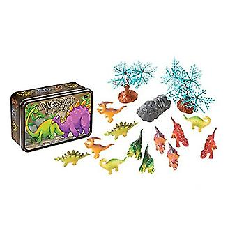 15 Pc Dinosaurs in a Tin Travel Toy Set