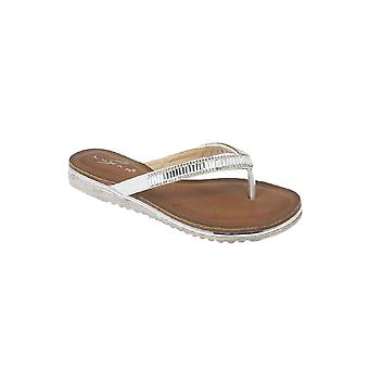 JLH812 Starla hyvät Diamante mukava viesti muoti Flat Thong sandaalit