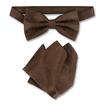 Vesuvio Napoli BowTie Paisley Mens Bow cravată & batistă