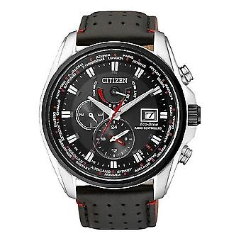 Citizen eco-drive elegante solar rádio relógio AT9036-08E Black watch