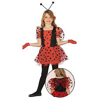 Girls Red Ladybird Bug Fancy Dress Costume