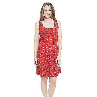 Cyberjammies 4130 naisten Mia punainen kukka tulostaa yö puku oloasut yöpaita