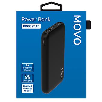 MOVO - Dual Port Power Bank 8000mAh