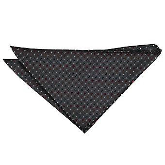 Musta punaisen ja kullan Bohemian geometrinen Pocket Square