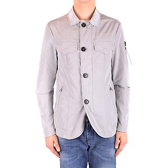 Peuterey Ezbc017087 Men's Grey Polyester Outerwear Jacket