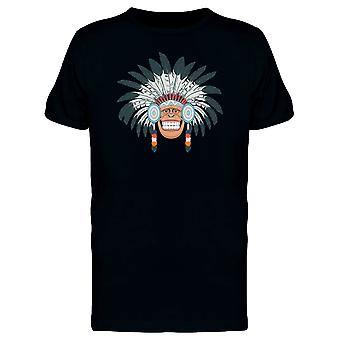 Chimpanzee With Headdress Tee Men's -Image by Shutterstock