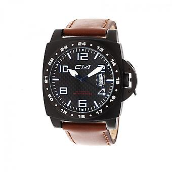 A2.1 - Carbon 14 - Automatic 3 Hands - Brown Leather