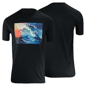 Quiksilver Mens Palm Wave T-Shirt-Black