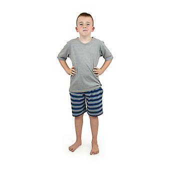 Socken Sachen Boys Baumwolle v-neck Streifen kurzer Pyjama