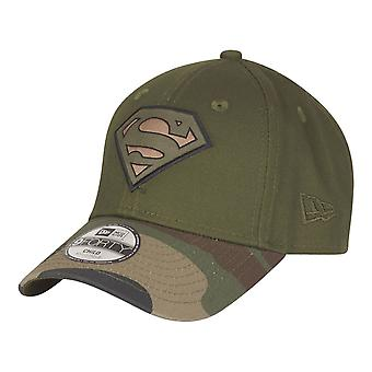 New Era 9Forty Kids Cap-SUPERMAN oliv/camo