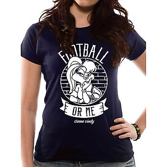 Women's Looney Tunes Football or Me Fitted T-Shirt