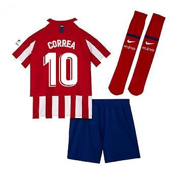 2019-2020 Atletico Madryt Strona główna Nike Little Boys Mini Kit (CORREA 10)