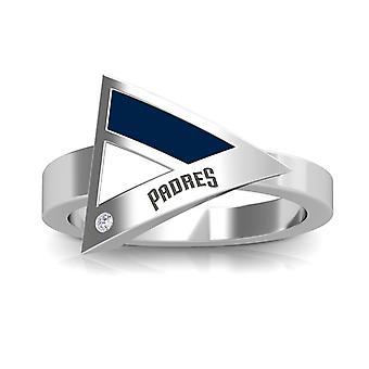 San Diego Padres Diamond Ring In Sterling Silver Design by BIXLER