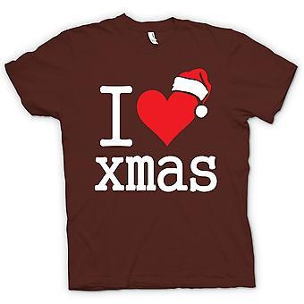 Herr T-shirt - jag älskar Xmas - rolig jul