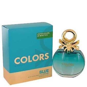 Colors De Benetton Blue By Benetton Eau De Toilette Spray 2.7 Oz (women) V728-539292