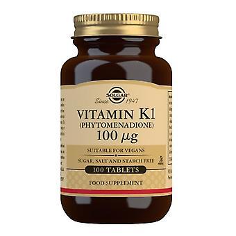 Solgar Vitamina K1 (Natural) 100ug Tablets 100 (3600)