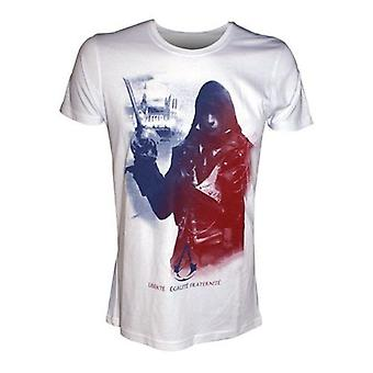 ASSASSINS CREED Unity Arno Freedom Equality and Brotherhood Extra Large T-Shirt Adult Male White (TS178910ASC-XL)