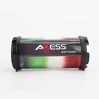 Axess Personal Bluetooth Media Speaker With 3.5mm Aux Jack and FM Radio - MX