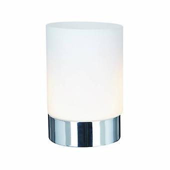 1 ljus bord touch lampa krom med Opal glas
