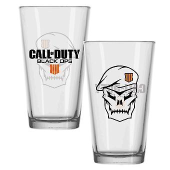Call of Duty: Black Ops IIII Glas Skull transparent, bedruckt, 100% Glas, Fassungsverm÷gen ca. 330 ml..