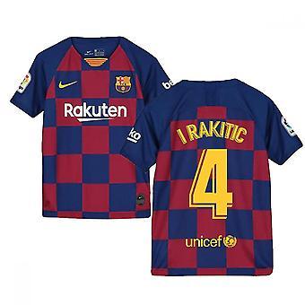 2019-2020 Barcelona Home Nike Camisa (Niños) (I RAKITIC 4)