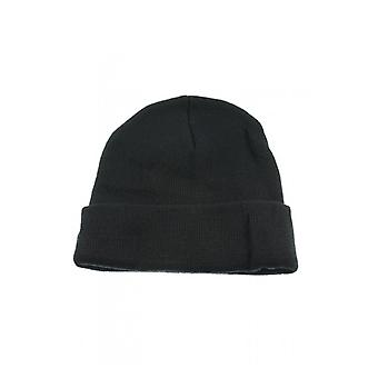 Attitude Clothing Plain Black Beanie